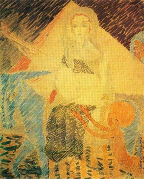 Flight to the Egypt, 1911 - Nikolai Kulbin