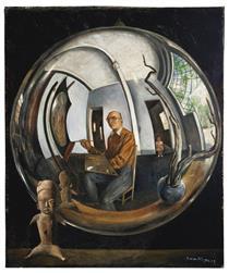 Self-Portrait in a Crystal Ball - Roberto Montenegro