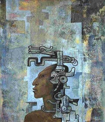 Aztec Head, 1965 - Roberto Montenegro