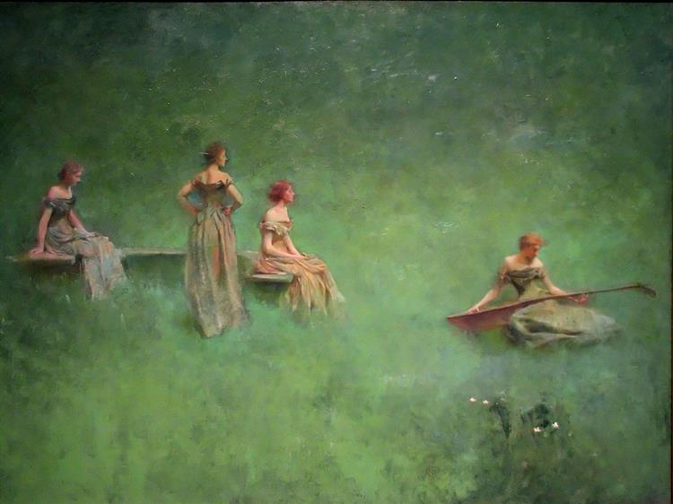 The Lute, 1904 - Thomas Dewing