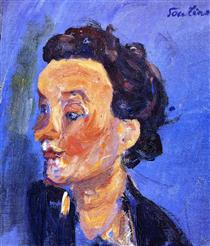 Young English Girl in Blue - Chaim Soutine