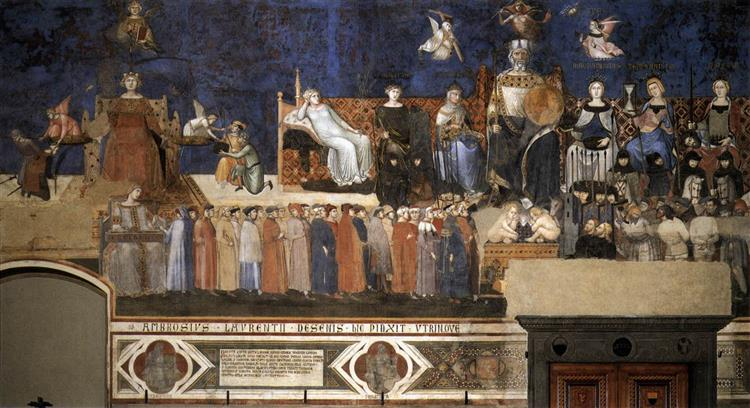 Allegory of the Good Government, 1340 - Ambrogio Lorenzetti