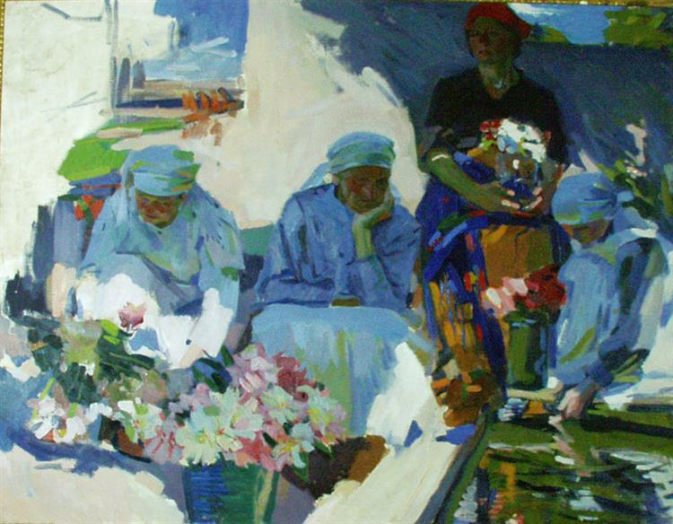 Flower Sellers, 1917 - Oleksandr Murashko