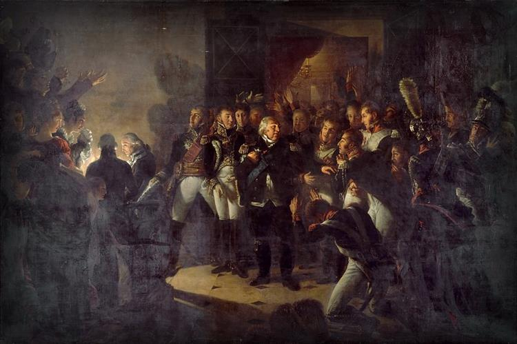 Departure of Louis XVIII from the Palace of the Tuileries on the Night of 20 March 1815, 1817 - Antoine-Jean Gros