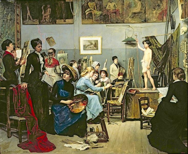 In the Studio, 1881 - Marie Bashkirtseff