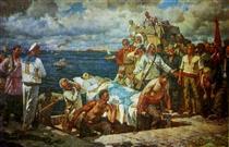 The Rebellious Potemkinites Take the Body of the Murdered Vakulenchuk Ashore - Мучник Леонід Овсійович