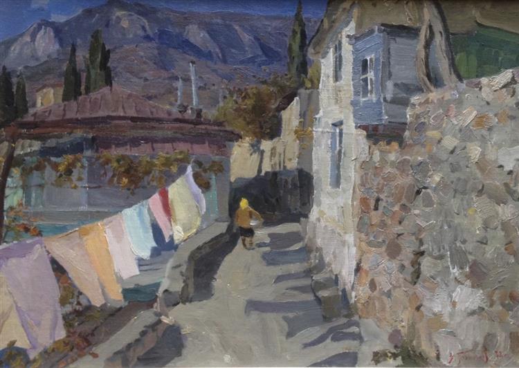 Street in Gurzuf, 1978 - Victor Puzyrkov