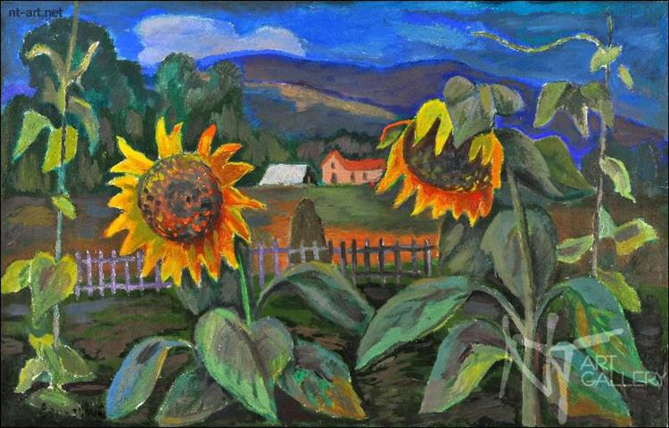 Sunflowers, 1975 - Roman Selsky