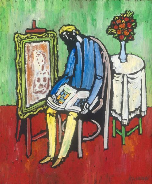 The Artist Thinking, c.1950 - Vytautas Kasiulis
