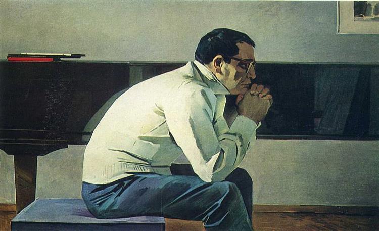 Portrait of Composer Kara Karaev, 1960 - Tahir Salahov