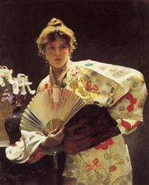 Lady with a Fan - Charles Sprague Pearce