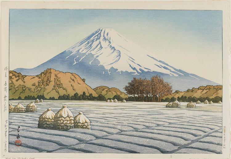 Frosty Morning in Nagaoka, 1939 - Hasui Kawase