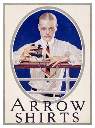 Arrow Shirts Advertisement, United States, 1920 - J. C. Leyendecker