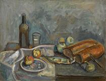 Still Life with Bread - Pinchus Kremegne