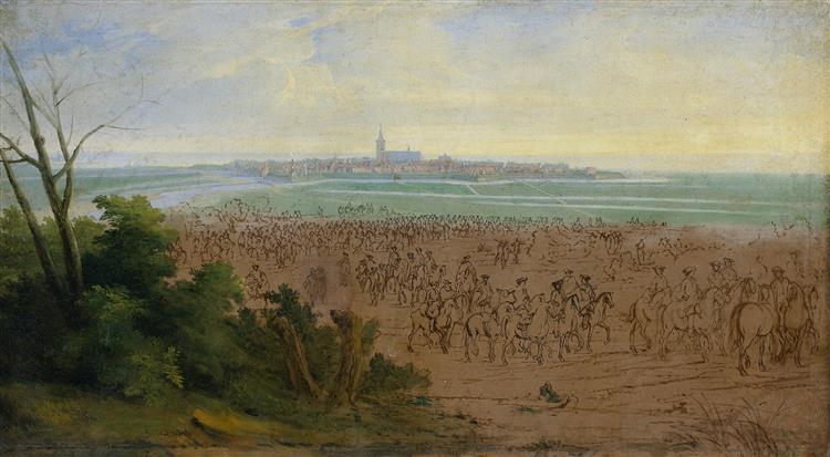De Troepen Van Lodewijk Xiv Voor Naarden, 20 Juli 1672, 1690 - Adam Frans van der Meulen
