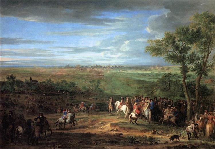 Louis Xiv Arriving in the Camp in Front of Maastricht, 1675 - Adam Frans van der Meulen