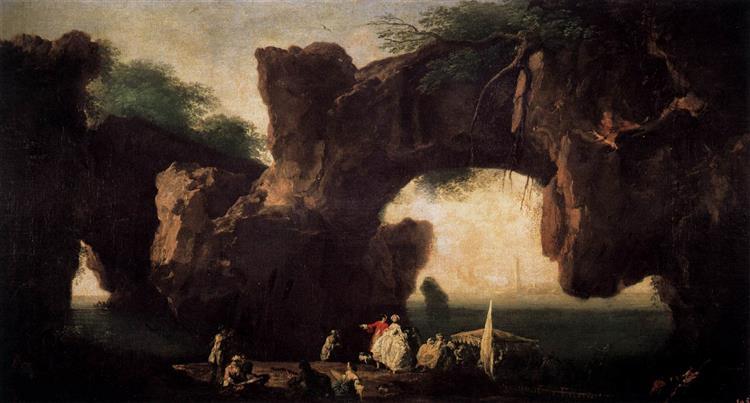 Seascape, View of Sorrento - Claude-Joseph Vernet