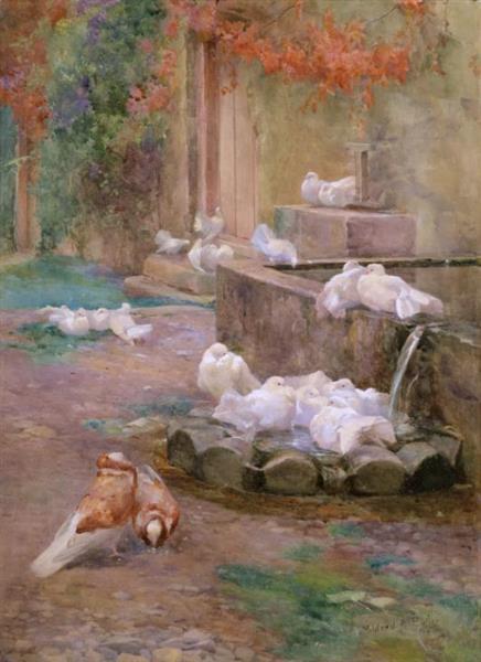 Morning Bath, 1896 - Mildred Anne Butler
