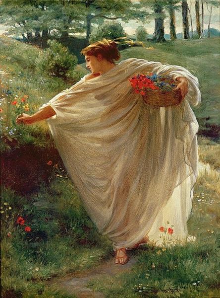 Wild Blossoms - Edward Poynter