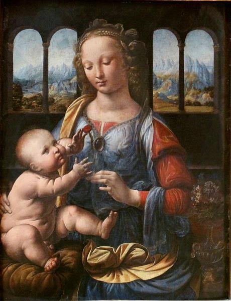 La Madone à l'œillet, c.1480 - Léonard de Vinci