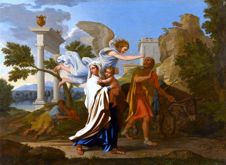 Втеча до Єгипту, 1657 - Ніколя Пуссен