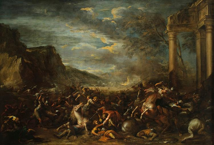 A Cavalry Battle, 1652 - Salvator Rosa