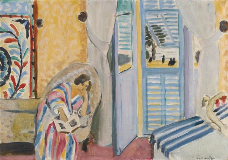 Woman With a Book, 1919 - Henri Matisse - WikiArt.org