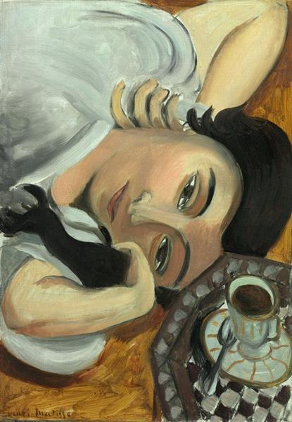 Lorette with Cup of Coffee, 1917 - Henri Matisse
