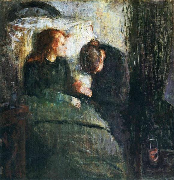 The sick child, 1885 - 1886 - Edvard Munch