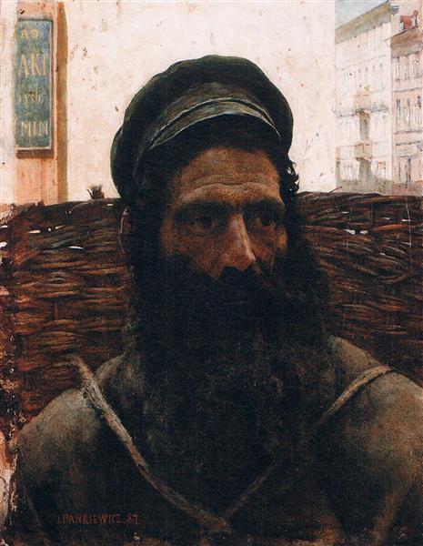 Jew With Basket, 1887 - 1908 - Józef Pankiewicz