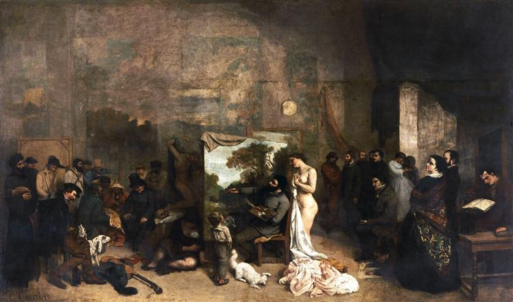 The Artist's Studio, 1854 - 1855 - Gustave Courbet