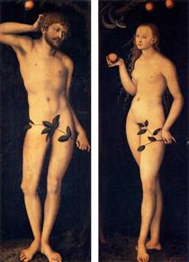 Адам и Ева - Лукас Кранах Старший
