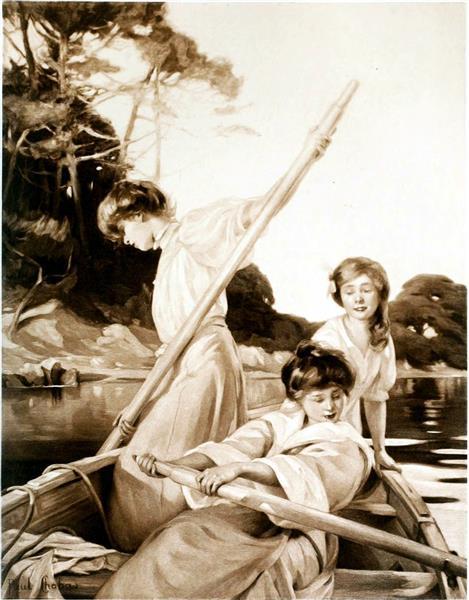 Sur La Rivière, 1908 - Paul Émile Chabas