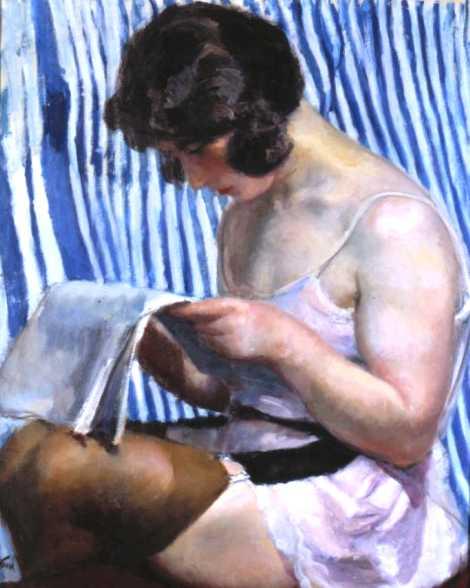 Model Reading a Newspaper, 1923 - Wojciech Weiss