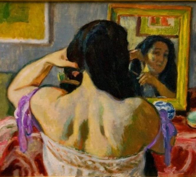 Woman Brushing Het Hair, 1911 - Józef Pankiewicz