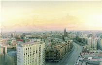 View of Madrid from Torres Blancas - Antonio López García