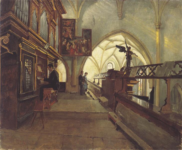 Auf Dem Kirchenchor Der Lienzer Pfarrkirche St. Andrä, 1890 - Albin Egger-Lienz