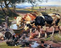 animals at the water fountain - Artur José Nísio