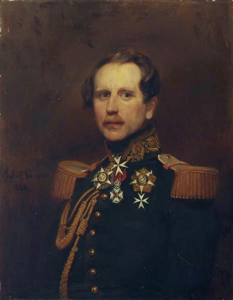 Portrait of a Belgian officer, 1840 - Gustaf Wappers