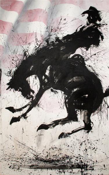Horse and Rider with Flag, 1999, 1999 - Richard Hambleton