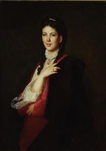 Portrait of a Leonia Blühdorn - Henryk Rodakowski