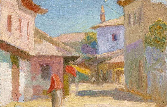 Bazaar in Anatolia - Huseyin Avni Lifij