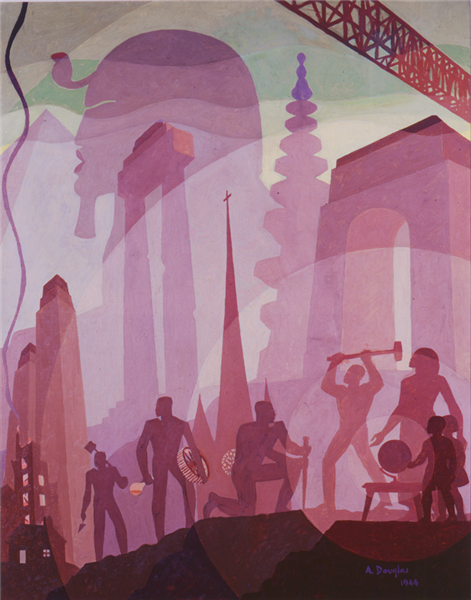 Building more Stately Mansions, 1944 - Aaron Douglas