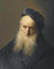 Study of the Head and Shoulders of an Old Bearded Man Wearing A Cap - Jan Lievens