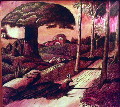 A Shoreham Scene (after Samuel Palmer)  by Johnbaroque - John-Baroque