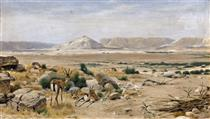 South African Landscape with Springboks - Рихард Фризе