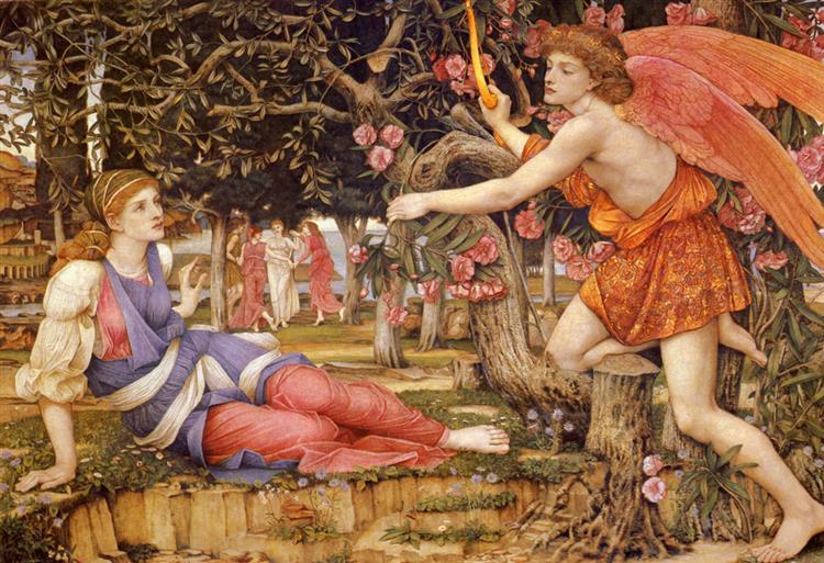 Love and the Maiden, 1877 - John Roddam Spencer Stanhope
