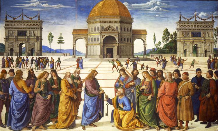 Christ Handing the Keys to St. Peter - Pietro Perugino