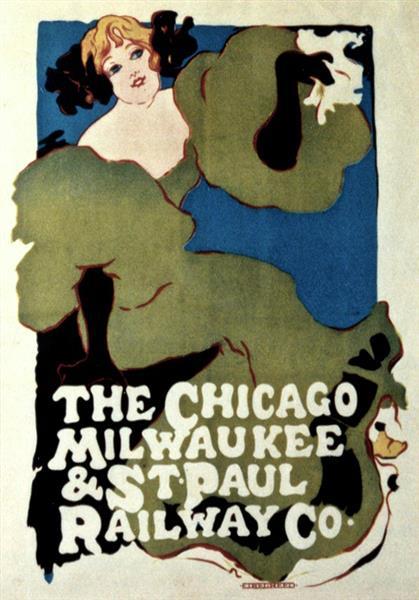 Railway Poster, 1896 - Ethel Reed