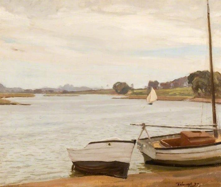 Christchurch Estuary Scene, 1937 - Algernon Mayow Talmage
